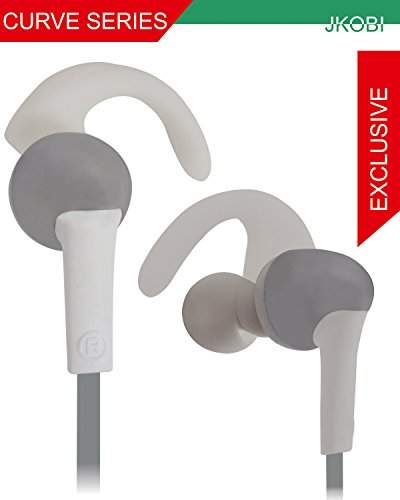 Jkobi Fitness / GYMING / Workout In-earbuds Earphone Headset Compatible For Xolo Omega 5.0 (For 5 Inch) -Silver  available at amazon for Rs.270