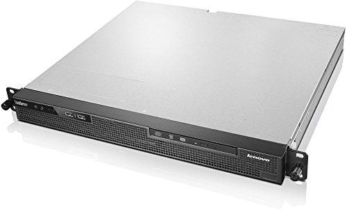 Lenovo ThinkServer RS140 19 Zoll Rack Server (Intel Xeon E3-1246, 3,5GHz, 4GB ECC RAM, HDD Support bis zu 2 x 3.5 Zoll DC, DVD-RW, kein Betriebssystem) schwarz