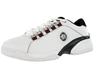 Converse Men's Cambell Ox Casual Shoe Black, Red, White (7.5)