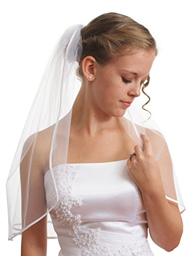 SparklyCrystal Women's Wedding Veil 1 T 1/8
