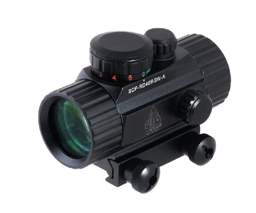 For Sale! Leapers Golden Image 38mm Red/Green Dot Sight, Integral Weaver Mount (SCP-RD40RGW)