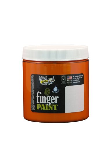Handy Art by Rock Paint 246-015 Washable Finger Paint, 1, Orange, 8-Ounce - 1