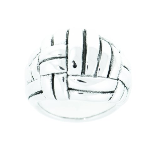 Sterling Silver Electroform Basket weave Ring, Size 8