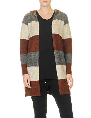 Only Women's Trust Hood Women's Wool Cardigan With Hood In Size Xs Brown