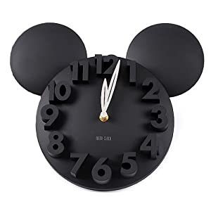 LOCOMO Modern Design Mickey Mouse Big Digit 3D Wall Clock Home Decor Decoration