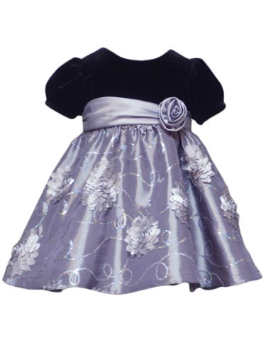 Rare Editions Baby Baby Girls Infant Sequin Soutach Dress