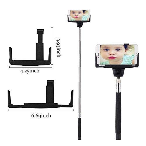 selfie stick findway extendable self portraits pole handheld selfie stick with plastic rearview. Black Bedroom Furniture Sets. Home Design Ideas