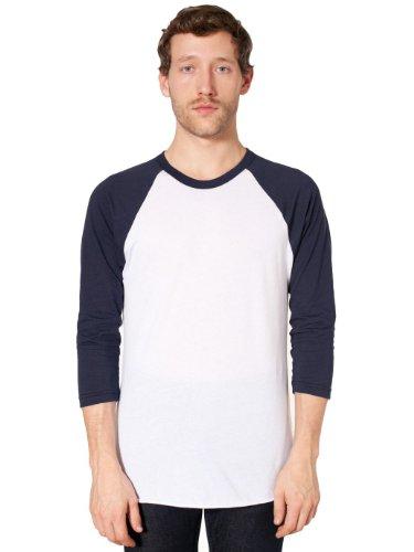 american-apparel-unisex-poly-cotton-3-4-sleeve-raglan-shirt-white-navy-xl