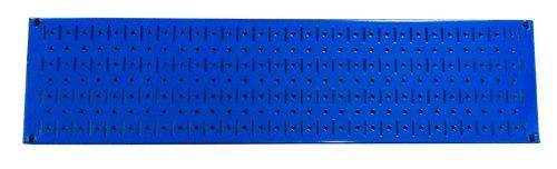 Wall Control Narrow Pegboard Rack 8In X 32In Blue Metal Pegboard Runner Tool Board