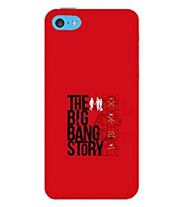 printtech Big Bang Story Quote Back Case Cover for Apple iPhone 5S