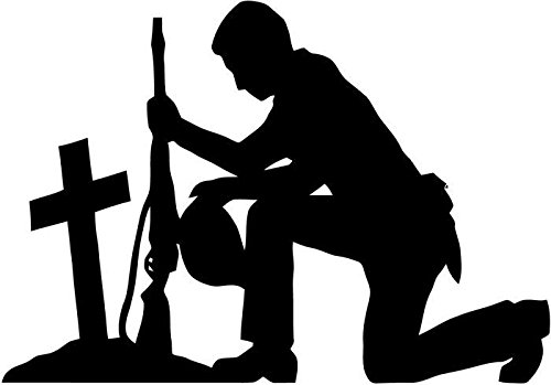 Soldier Praying Military Vinyl Decal Sticker Car Window Bumper Decor- 20