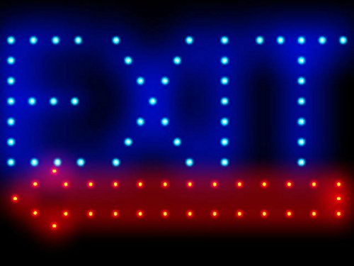 """C B Signs 15.5""""X9"""" Exit Left Led Sign"""