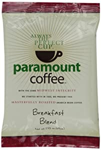 Paramount Breakfast Blend, Ground Coffee, 1.75-Ounce Pouches (Pack of 24)