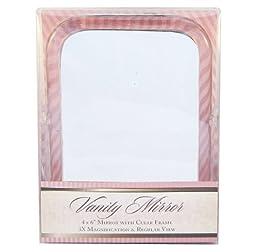 Swissco Vanity Mirror, Rectangle 4 Inch X 6 Inch Clear Frame, 1X/3X, 8.6-Ounce