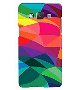 PrintVisa Modern Digital Art Pattern 3D Hard Polycarbonate Designer Back Case Cover for Samsung Galaxy E5