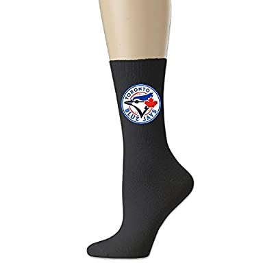Toronto Blue Jays Logo Crew Socks For Men And Women Black