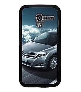 Fuson Premium 2D Back Case Cover Stylish car on Road With blue Background Degined For Motorola Moto X XT1058::Motorola Moto X (1st Gen)