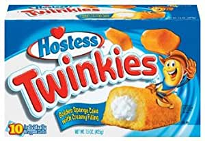 Hostess Twinkies 10 ct Sponge Cake with Creamy Filling 15 oz (Pack of 6)