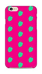 AMEZ designer printed 3d premium high quality back case cover for Apple iPhone 6s Plus (green pink strawberries)