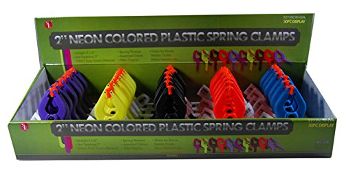 Se - Spring Clamps - Colored Plastic, 2In., 30 Pc - 3273Sc30-Col