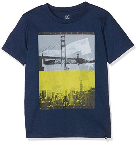 DC Shoes-Maglietta a maniche corte da ragazzo, concava per T-Shirt, Blu, taglia 10/Small