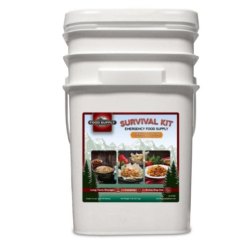 Food Supply Depot 90120174 Survival Kit Food Supply (3-Person 72-Hour) (Bucket)