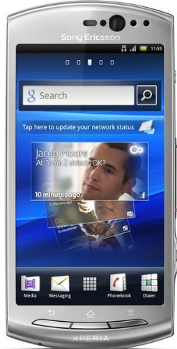 Sony Ericsson Xperia Neo V Mt11A Unlocked Phone With Android, 5 Mp Camera, And 3.7-Inch Display--U.S. Warranty (Silver)