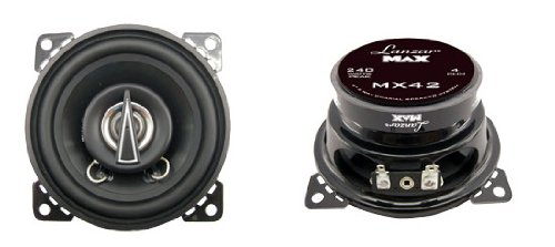 Lanzar Mx42 Max Series 4-Inch 120-Watt 2-Way Coaxial Speakers (Pair)