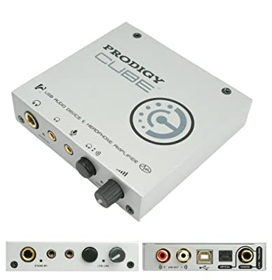 AUDIO TRAK Prodigy CUBE - 24Bit/96kHz USB DAC - Digital to Analog Converter & High Quality Dual Headphone Amplifier