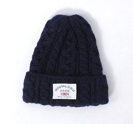 (NVY) HIGHLAND2000 ハイランド2000 アルパカ ニット帽 ボブキャップ ニットキャップ メンズ レディース