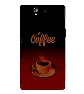 Coffee Time 3D Hard Polycarbonate Designer Back Case Cover for Sony Xperia Z :: Sony Xperia Z L36h