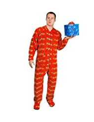 PajamaCity Christmas Lights Fleece Pajamas