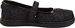 Toms - Tiny Slip-On Mary Jane Shoes In Black Glimmer (8T)