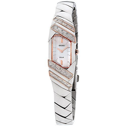 Seiko Women's 'TRESSIA' Quartz Stainless Steel Casual Watch, Color:Silver-Toned (Model: SUP332)