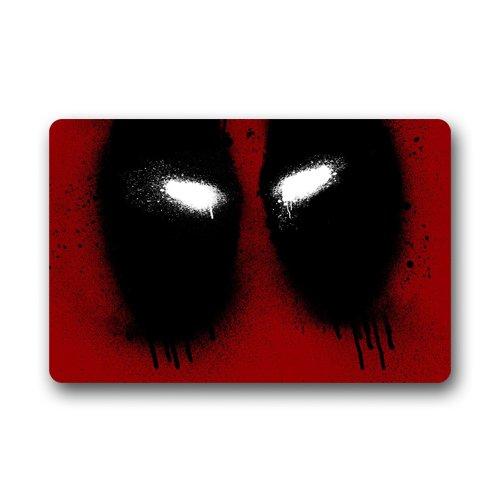 """Deadpool Marvel Games-Tappetino per porta, anti-scivolo, lavabile in lavatrice (59,94 cm (23,6"""")-Zerbino per esterni ed interni x 39,88 (15,7 cm)"""
