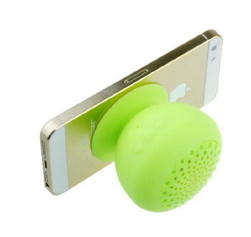 Vipstore® Mini Mushroom Wireless Bluetooth Speaker Waterproof Sucker Handsfree Function Speakers With Built-In Microphone For Laptop Smartphone Tablet As A Tablet Stand (Green)