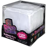 "Fortune Products MC-RGB4 Deco Cube Lighted Table Centerpiece, 4"" Length x 4"" Width x 4"" Depth"
