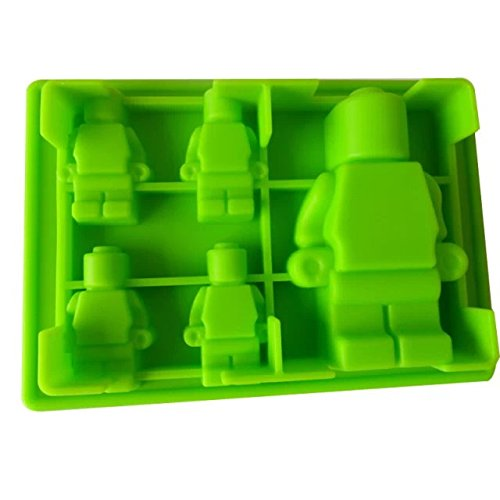 Cody Vanbelle Robot Design Ice Maker Baking Cake Pan 2Pcs(Green)