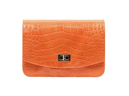 dearwyw-unique-crocodile-skin-pattern-mini-shoulder-cross-body-bag-orange