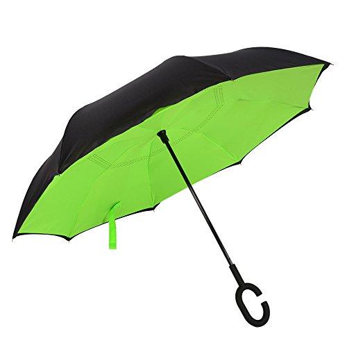 reverse-umbrella-yisilic-double-canopy-windproof-uv-protection-umbrella-rainy-sunny-umbrella-green