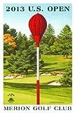 Signed 2013 U.S. Open Merion Mini-Poster by Lee Wybranski - Wicker Basket