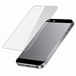 MiiCreations Apple Iphone 5S-Back Premium Tempered Glass Screen Protector Guard Ultra Clear High