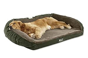 Orvis Faux-fur Deep Dish Dog Bed With Memory Foam / Medium Dogs 40-60 Lbs., Hunter Green,