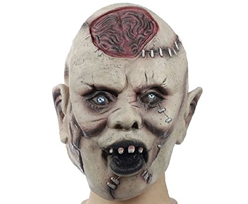 [Blue Elep / Halloween Horror Masks Adult Costume Horror Latex Party Scary Mask Cosplay Prop Fancy Dress] (Best Homemade Horror Costumes)