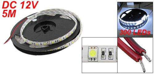5m 500cm 5050 Blanc Froid 300 LED SMD Bande Flexible Lampe étanche DC 12V