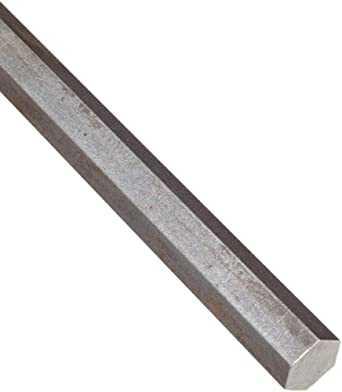 "Steel Hex Bar, Unpolished (Mill) Finish, 7/8"" Across Flats, 36"" Length"
