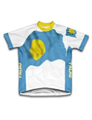 Palau Flag Short Sleeve Cycling Jersey for Women