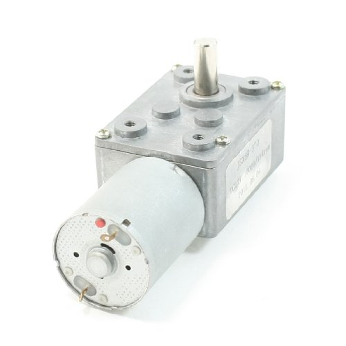 12Vdc 10000/154Rpm Output Speed 2 Pin Terminals 6Mm Shaft Geared Motor