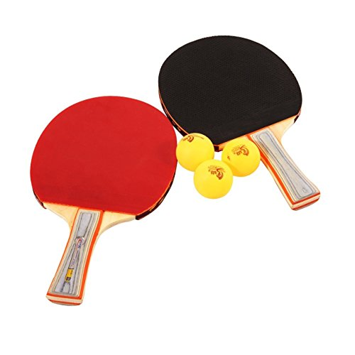 Table Tennis Ping Pong Racket Paddle Bat Blade Two Sides Rubber Long Handle