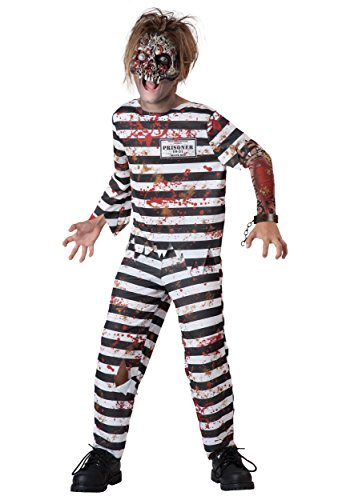 InCharacter Costumes Creepy Convict Costume, One Color, Size 8 (Boys Prisoner Costume)